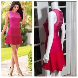 VENUS pink Ombré bandage bodycon dress